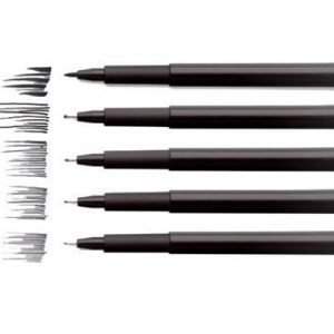 Faber-castell Fiber Pen Pitt Black 4-set