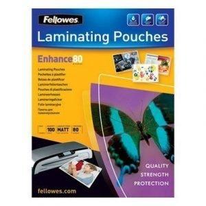 Fellowes Laminating Pouch Matte 80mic A3 100pcs