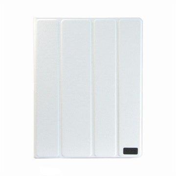 Fenice Creativo Nahkakotelo iPad 2 iPad 3 iPad 4 Valkoinen Timantti