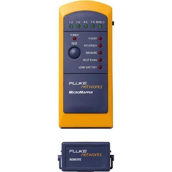 Fluke MicroMapper kaapelitesteri RJ45 äänigeneraattori kelt/sin