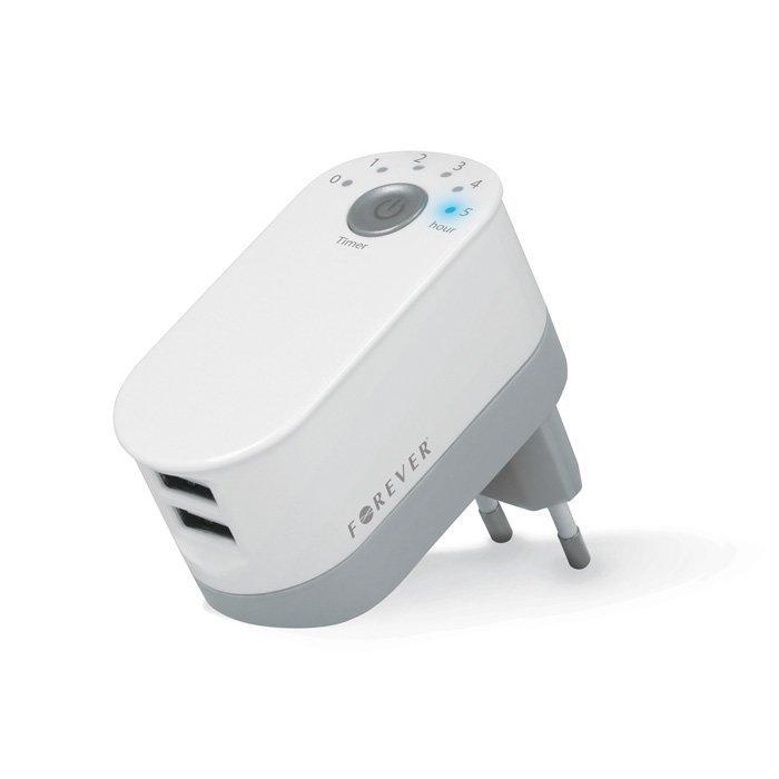 Forever 2 x USB Laturi ajastimella - 2.2A