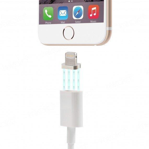 Forever Lightning MagSafe-tyylinen magneettinen latauskaapeli iPhone ja iPad yhteensopiva