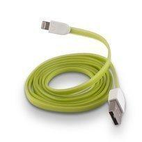 Forever Litteä USB Lightning lataus- ja synkronointikaapeli puhelimiin - Vihreä