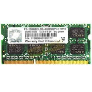 G.Skill F3-10666CL9S-2GBSQ SQ Serie SO-DIM DDR3 RAM Muisti 2Gt