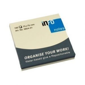 Generic Häftis Notepad 75x75mm Yellow 12-pack