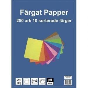 Generic Kopieringspapper 10-färger A4 80g 250-ark