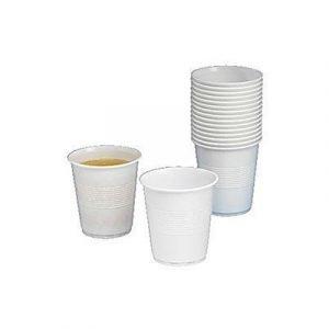 Generic Plastic Cup White 21cl 100pcs/fp 20-pack