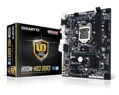 Gigabyte Ga-h110m-hd3 Ddr3 Lga1151 Socket Mikro Atx