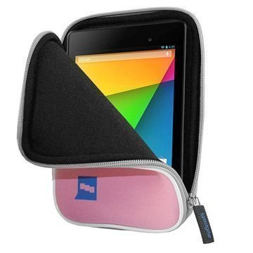 Google Nexus 7 2 iGadgitz Neopreenikotelo Pinkki