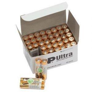 Gp Ultra Battery Alkaline 40 Pcs Aaa/lr03 1