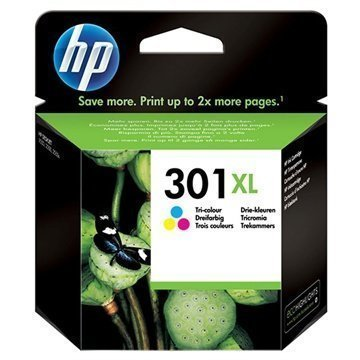 HP 301 Mustepatruunapaketti XL Deskjet 1000 1050 2540 AiO 3 Väriä