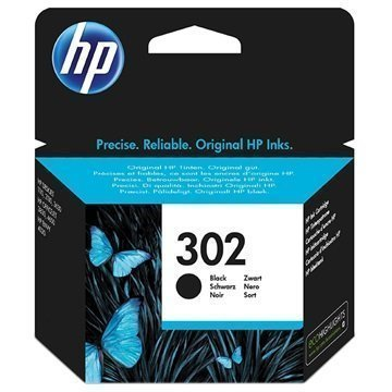 HP 302 Mustepatruuna F6U66AE Musta
