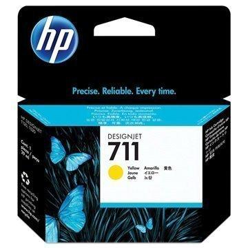 HP 711 Mustepatruuna CZ132A Keltainen