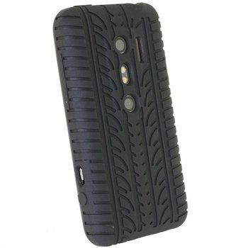 HTC Evo 3D iGadgitz Tyre Tread Design Silicone Case Black