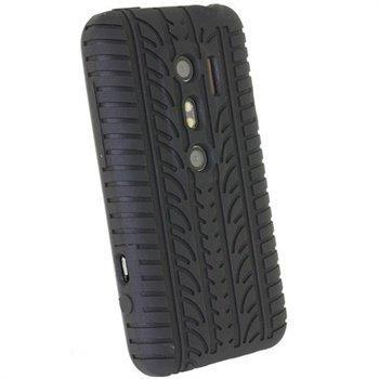 HTC Evo 3D iGadgitz Tyre Tread Design Silicone Case Black