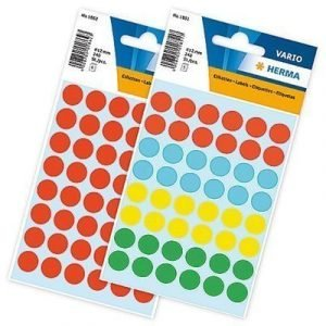 Herma Label 12 Mm Round Sorted Color 240 St/fp