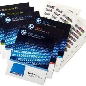 Hpe Lto-5 Ultrium Rw Bar Code Label Pack