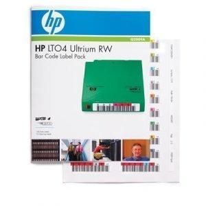 Hpe Ultrium 4 Rw Bar Code Label Pack
