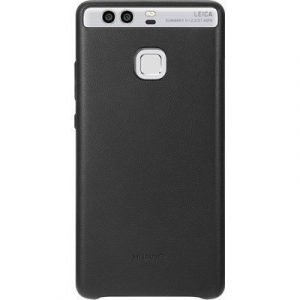 Huawei P9 Leather Case Black Huawei P9 Musta