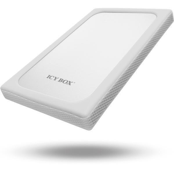 "ICY BOX ulk.kotelo 1x2 5 hdd:lle 6 Gbit/s USB 3.0 hop/valk"""