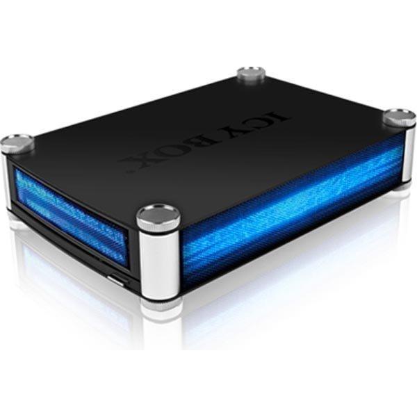 """ICY BOX ulkoinen kotelo 5 25 SATA -> USB 3.0 ja eSATA musta"""""""