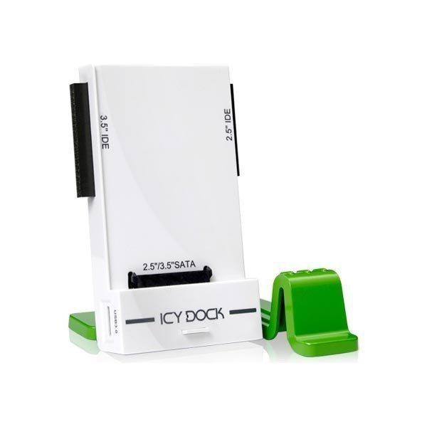 """ICY DOCK USB 3.0 suoratelakka 2 5 tai 3 5"""" IDE-/SATA-levylle ATA-133/"""""""