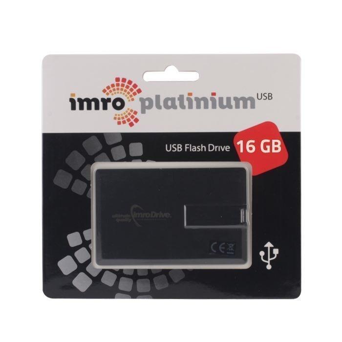 IMRO 16 Gt USB 2.0 Luottokorttimallinen USB muistitikku - Valkoinen