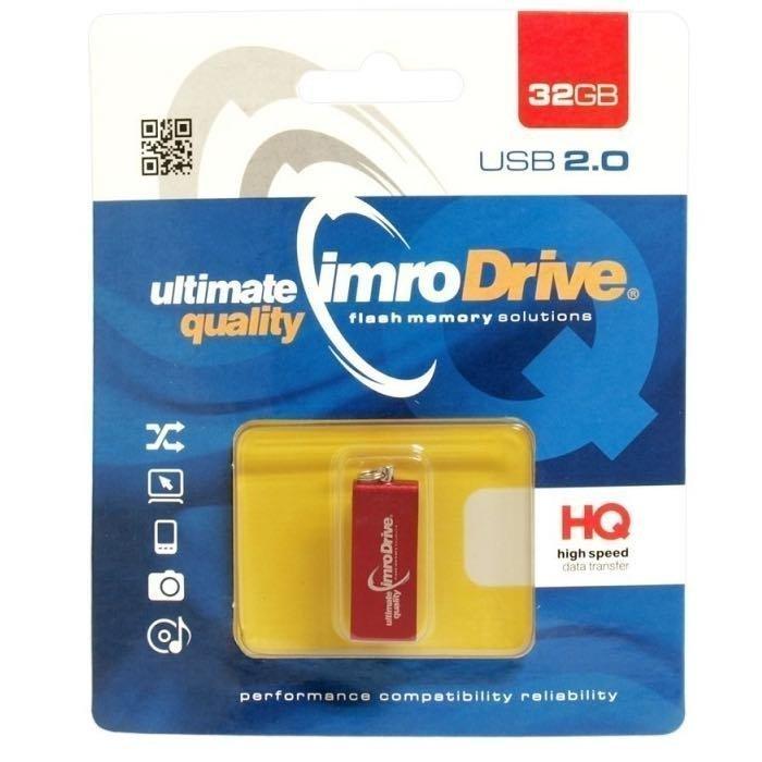 IMRO 32 Gt USB 2.0 Muistitikku - Edge - Punainen