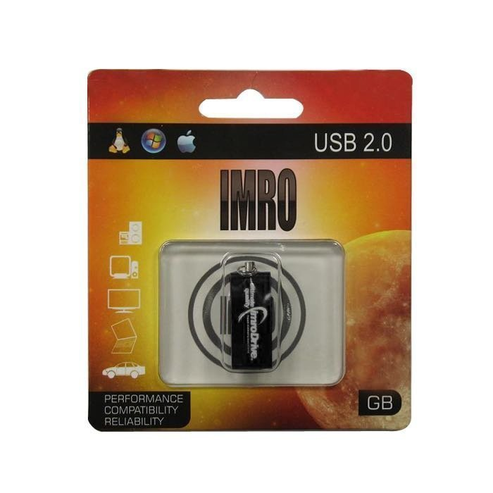 IMRO 8 Gt USB 2.0 Muistitikku - Edge - Musta