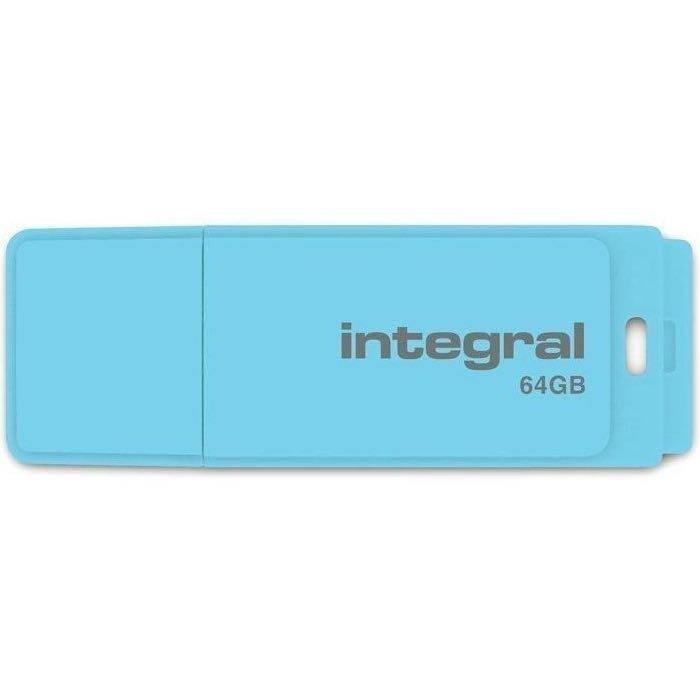 INTEGRAL 64 Gt USB 2 Muistitikku - Pastel Blue Sky