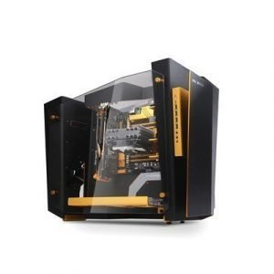 In Win S-frame Atx Case Gold/black Musta Kulta