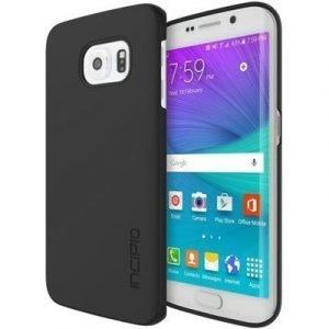 Incipio Feather Takakansi Matkapuhelimelle Samsung Galaxy S6 Edge Musta