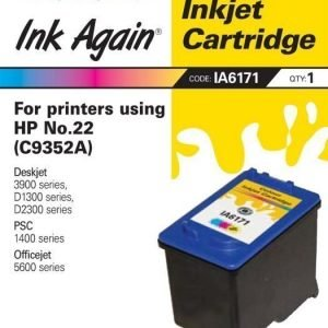 Ink Again HP C9352A Nr 22 väri