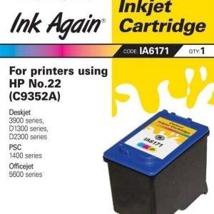 Ink Again HP C9352A Nr 22 väri