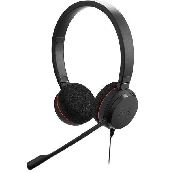 JABRA EVOLVE 20 MS Stereo Headset MS Lync USB kaukosäädin musta