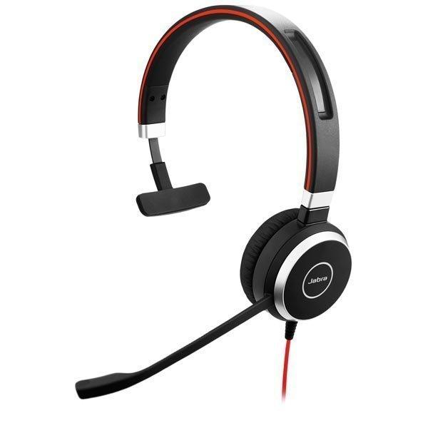 Jabra EVOLVE 40 MS Mono 3 5mm USB MS Lync musta/punainen
