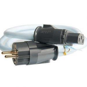 Jenving Supra Cables Lorad 2.5 Cs-eu Cee 7/7 (schuko) Virtaliitin Uros Iec 320 Virtaliitin Naaras Jäänsininen 1m