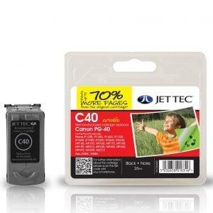 Jet Tec C40 Black Mustekasetti