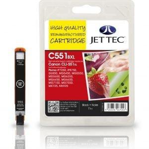 Jet Tec C551 Bxl Black Mustekasetti