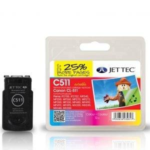 Jet Tec Cl511 Colour Mustekasetti