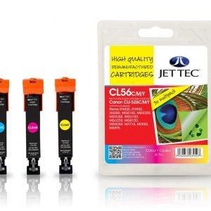 Jet Tec Cli-526 3-Väri Mustekasetti 3 X 9 Ml
