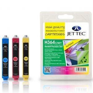 Jet Tec Hp364 Cmy Multipack Mustekasetti 3 X 5 Ml