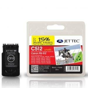 Jet Tec Pg-512 Black Mustekasetti