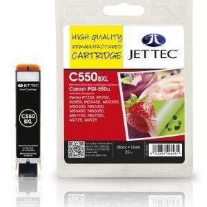 Jet Tec Pgi-550xl Black Mustekasetti