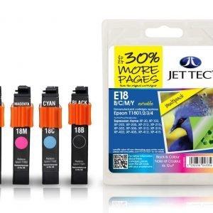 Jet Tec T1801/2/3/4 4-Väri Multipack Mustekasetti