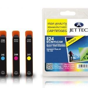 Jet Tec T242 Black & Colour Multipack Mustekasetti