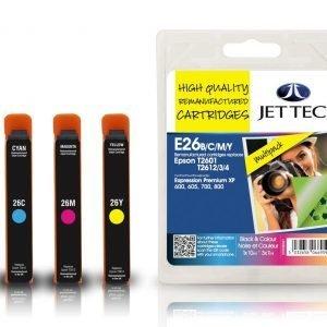 Jet Tec T2601/2/3/4 Black & Colour Multipack Mustekasetti