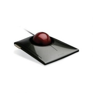 Kensington Slimblade Trackball Laser Pallohiiri Grafiitti Rubiinin Punainen