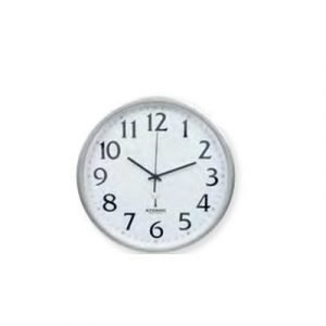 Ketonic Wall Clock Sweep 330mm Radio Silver