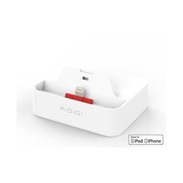 Kidigi Cover-Mate Työpöytälaturi iPhone 5 / 5S / SE / 5C Valkoinen